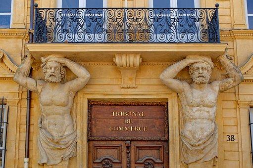 Door, Statue, Facade, Ancient, Atlante, Architecture