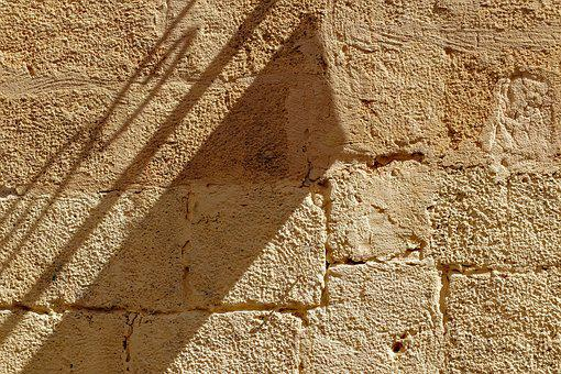Wall, Stone, Ancient, Texture, Antique, Shadow, Surface