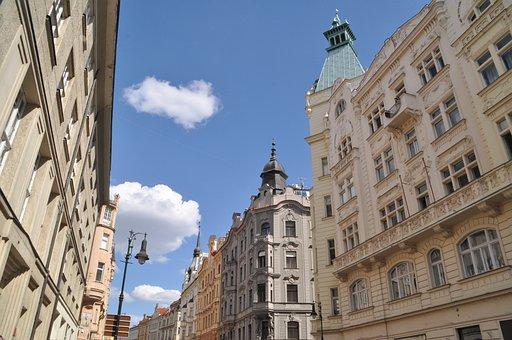 Prague, Art Nouveau, House Facade, Architecture, City