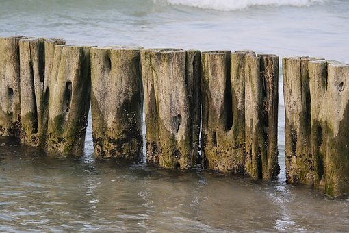 Breakwater, Groyne, Baltic Sea, Beach Protection, Water