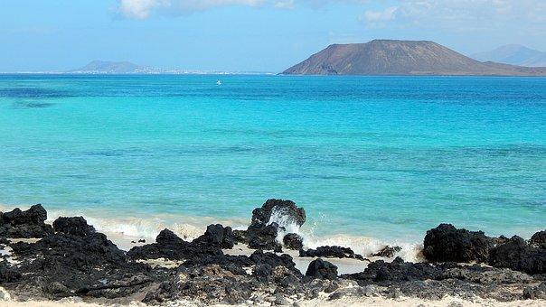 Body Of Water, Blue, Beach, Ocean, Island