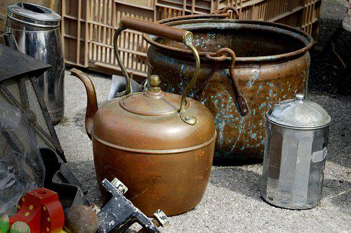 Container, At The Age Of, No Person, Kettle, Antique