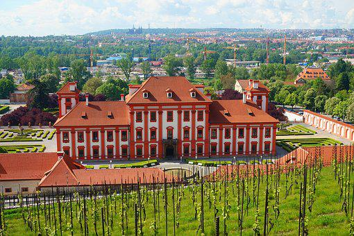 Chateau, Prague, Czechia, Cityscape, Baroque