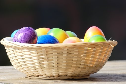 Easter, Basket, Egg, Color, Colorful, Painting, Food