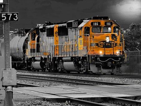 Engine, Train, Railway, Transportation System