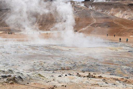 Steam, Hot Spring, Geothermal, Heat, Geology