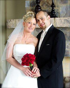 Wedding, Bride, Groom, Romance, Marriage