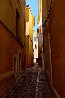 Street, Alley, Architecture, Travel, Facade, Old, House