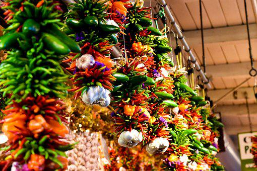 Decoration, Leaf, Season, Peppers, Spice, Market