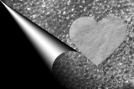 Heart, Love, Romantic, Black White, Glass, Letters
