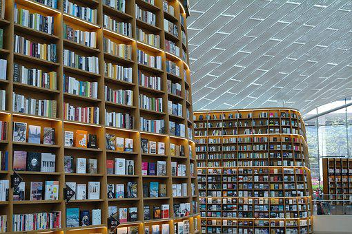 Structure, Building, Library, City, Book, Many, Large