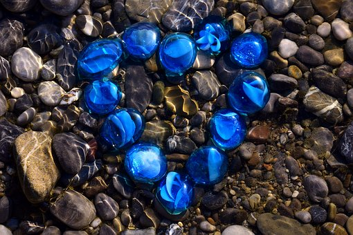 Heart, Stone, Water, Pebble, River, Riverbed, Love