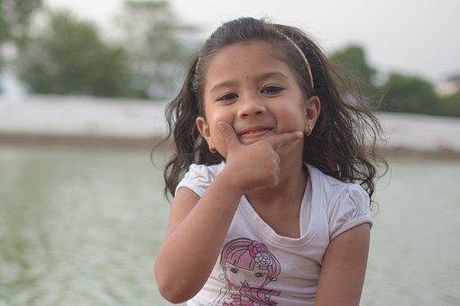 Smiling, Happy, Child, Outdoors, Nature, Fun, Beautiful