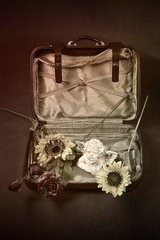 Old, Vintage, Ornament, Retro, Luggage, Treasure, Box