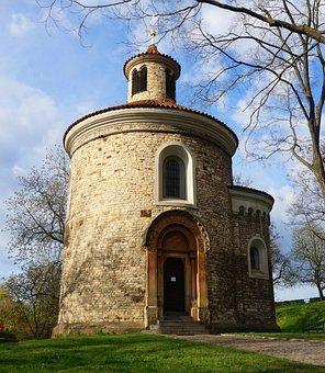 Romanesque, Rotunda, Prague, Czechia, Architecture