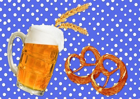 Beer, Pretzels, Alcohol, Refreshment, Glass, Drink