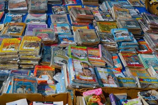 Sale, Shop, Market, Stock, Shelf, Books, Pulp Fiction