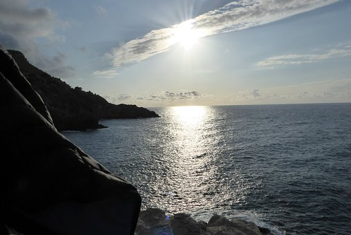 Mallorca, Waters, Sea, Sunset, Sun