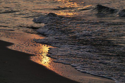 Waters, Beach, Sunset, Coast, Sand, Baltic Sea