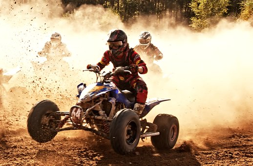 The Vehicle, Dust, Motorcycle, Action