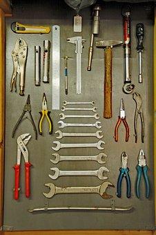 Tools, Keys, Tang, Hammer, Hang, Neat