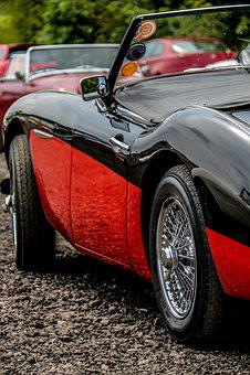 Austin Healey, Austin, Red, Car, Classic Car, Vehicle
