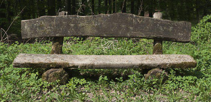 Wooden Bench, Old Bench, Weathered, Seat, Bank