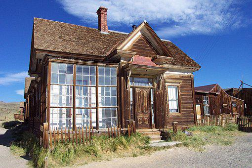 House, Architecture, Window, Family, Old, Bodie, Bshp