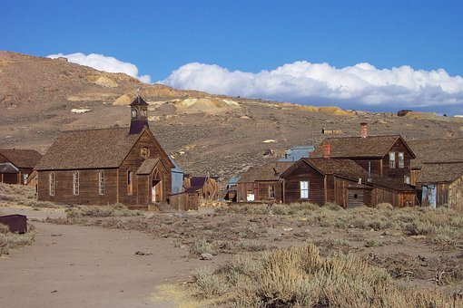 House, Outdoors, Landscape, Remote, Nature, Bodie, Bshp