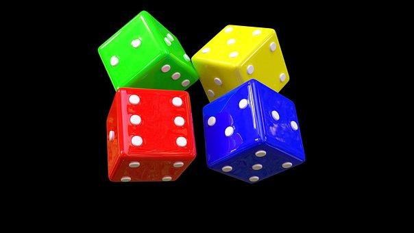 Dice, Red, Yellow, Gambling, Casino, Risk