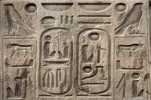 Egypt, Luxor, Hieroglyphs, Cartridges, Writing