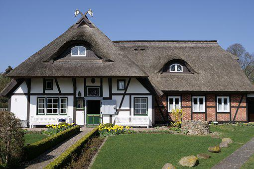 Home, Thatched Roof, Thatched, Fachwerkhäuser