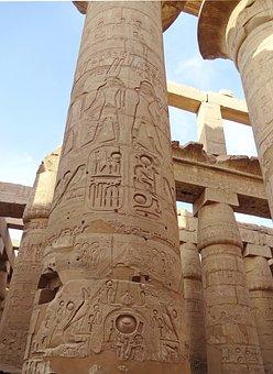 Egypt, Karnak, Columns, Temple, Hieroglyphs