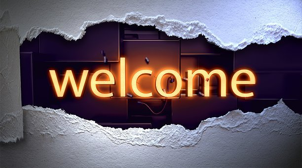 Welcome, Lettering, Typography, Neon Font, Neon, Paper