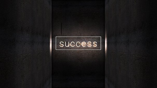 Lettering, Success, Neon, Wall, Shaft, Structure, Light
