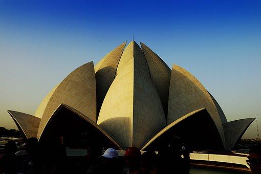 Travel, Outdoors, Lotus Temple, Delhi, India, Tourism