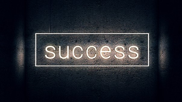 Success, Lettering, Typography, Neon Font, Neon