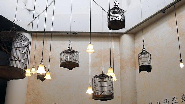 Lamp, Hanging, Lantern, Light, Decoration, Indoors, Old