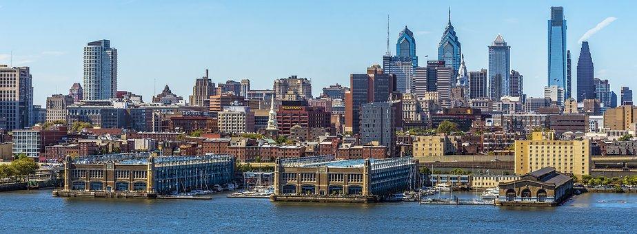 Panoramic, River, Water, Travel, City, Philadelphia