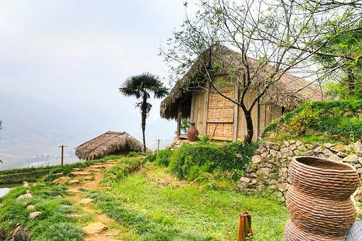 Water, See, Asia, Rice, Vietnam, Sa Pa, Village
