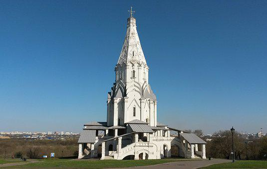 Moscow, Russia, Kolomna, Architecture, Sky, Church