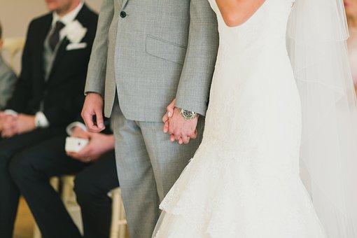 Wedding, Bride, Groom, Wedding Ceremony, White