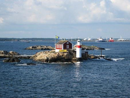 Gäveskär, Gothenburg, Baltic Sea, Lighthouse Gäveskär