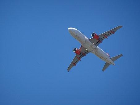 Aircraft, Sky, Blue, Engine, Clouds, Nice Weather