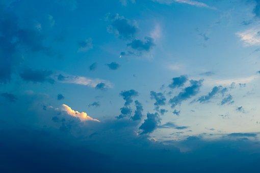 Blue, Sky, Sun, Summer, Blue Sky, Clouds, Nature