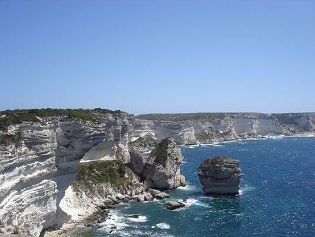 Bonifacio, Strait Of Bonifacio, Corsica, Sea, Costa