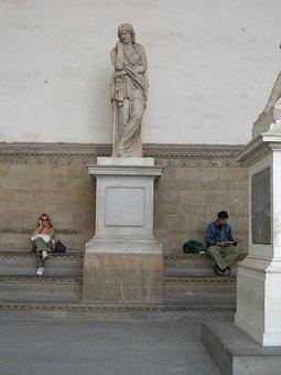 Italy, Florence, Center, View, Souvenir, City, Man