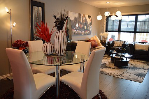 Dining Room, Living Room, Furniture, House, Home, Table