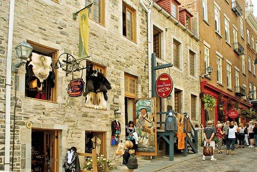 Canada, Quebec, Street, Shops, Furs, Grand Street