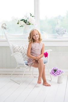 Girl, Young, Room, White, Cute, Happy, Home, Child
